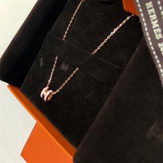 エルメス(Hermes)の新品未使用 ミニ・ポップH ペンダント ピンクゴールド ローズドラジェ(ネックレス)