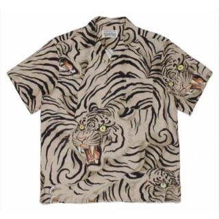 ワコマリア アロハシャツ 虎 TIM LEHI ベージュ色の XL サイズ