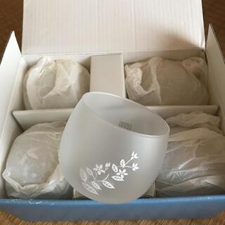 タチキチ(たち吉)のたち吉 冷茶碗 5客セット 冷茶グラス ガラス湯呑み(グラス/カップ)