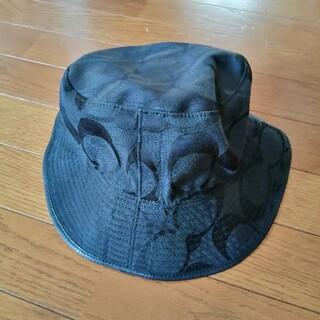 コーチ(COACH)のコーチ 帽子 シグニチャー ハット ブラック S 美品(ハット)