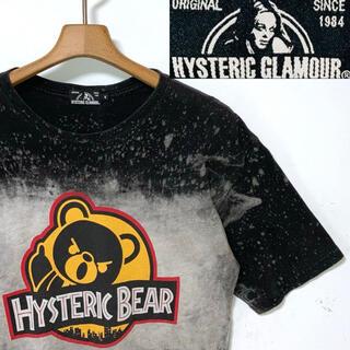 HYSTERIC GLAMOUR - 美品!日本製!ヒステリックグラマーBEARブリーチ加工Tシャツ 定価15180円