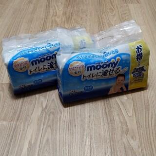 Unicharm - ムーニーおしりふき トイレに流せるタイプ 50枚16パック