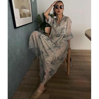 Ameri VINTAGE - AMERI VINTAGE ISLA PIPING SHEER DRESS M