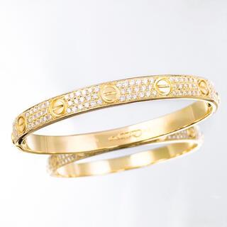 Cartier - 【保証書付/仕上済】カルティエ ラブブレス YG #16 ダイヤ ブレスレット