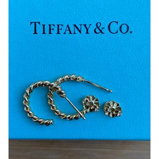 Tiffany & Co. - Tiffany&Co. ツイスト 750 k18 フープピアス ティファニー