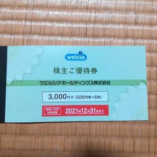 ウエルシアホールディングス株主優待券3000円分