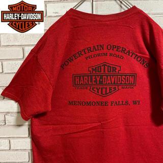 ハーレーダビッドソン(Harley Davidson)の90s 古着 ハーレーダビッドソン L バックプリント ビッグプリント ゆるだぼ(Tシャツ/カットソー(半袖/袖なし))