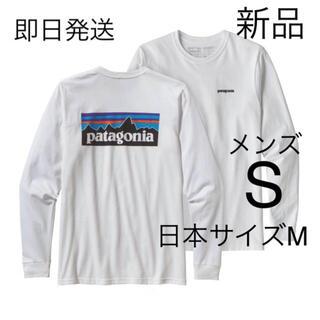 パタゴニア(patagonia)の送料無料 日本Mサイズ パタゴニア P-6ロゴ ロンT ホワイト 国内正規品(Tシャツ/カットソー(七分/長袖))
