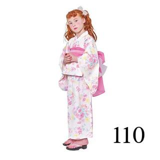 mezzo piano - 【新品】メゾピアノ 浴衣 花 110 白 ピンク