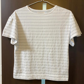 美品 ドゥクラッセ Mサイズ カットソー ボーダー Tシャツ(Tシャツ(半袖/袖なし))