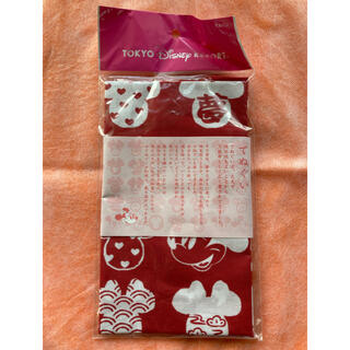 ディズニー(Disney)のDisney てぬぐい ミニーちゃん 手拭い タオル ハンカチ 赤(日用品/生活雑貨)