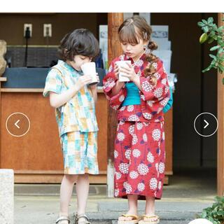BREEZE - 新品 浴衣 ブリーズ 紫陽花柄セット 100