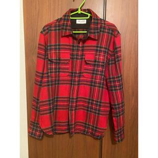 Saint Laurent - キムタク着!21SSサンローランマルチカラーロゴチェックシャツ
