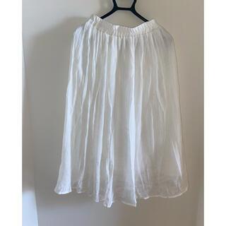 スカート 白スカート(ロングスカート)