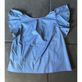 ランバンオンブルー(LANVIN en Bleu)の新品未使用ランバンオンブルーTシャツ カットソー 青トップスブラウスレディース(シャツ/ブラウス(半袖/袖なし))