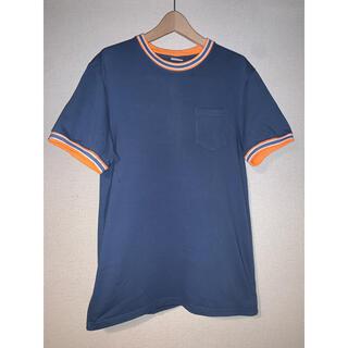 BEAMS - ヘルスニット Tシャツ リンガーT ポケットT ブルー L