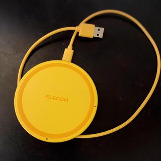 ELECOM - ELECOM☆置型スマホ充電器 イエロー