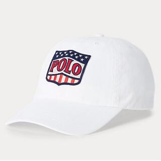 ポロラルフローレン(POLO RALPH LAUREN)のポロラルフローレン  白 ビッグ ロゴ polo キャップ 野球帽 ブランド新品(キャップ)