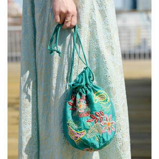 ガリャルダガランテ(GALLARDA GALANTE)のヌキテパ ペイズリー 刺繍 バッグ(ハンドバッグ)