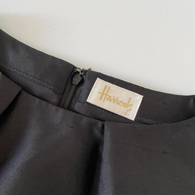 Harrods(ハロッズ)のHarrods ハロッズ シルクタフタワンピース ブラック 3 レディースのワンピース(ひざ丈ワンピース)の商品写真