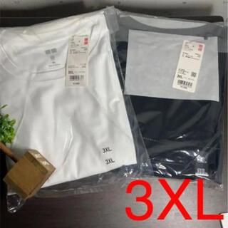 ユニクロ(UNIQLO)の3XL ユニクロ ドライEXクロプドT コットンライク 半袖 ブラック&ホワイト(Tシャツ(半袖/袖なし))