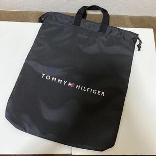 TOMMY HILFIGER - トミーヒルフィガー 巾着 バッグ ブラック 新品
