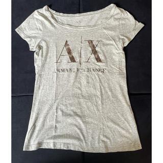 アルマーニエクスチェンジ(ARMANI EXCHANGE)のARMANI Xアルマーニトップス半袖Tシャツカットソー レディースグレーロゴ(Tシャツ/カットソー(半袖/袖なし))