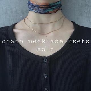 Ameri VINTAGE - 再入荷 chain necklace 2sets gold