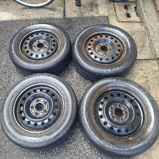 ダンロップ(DUNLOP)のタイヤ、ホイールセット195/65R15(タイヤ・ホイールセット)