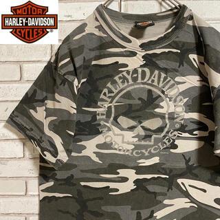 ハーレーダビッドソン(Harley Davidson)の90s 古着 ハーレーダビッドソン  カナダ製 バックプリント ビッグプリント(Tシャツ/カットソー(半袖/袖なし))