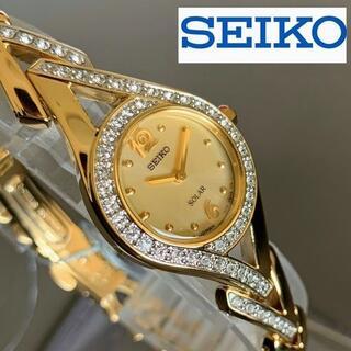 セイコー(SEIKO)の【新品】華奢な手元に★SEIKO セイコー★ソーラー★腕時計 レディース(腕時計)