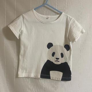 ムジルシリョウヒン(MUJI (無印良品))の無印良品 パンダTシャツ 100㎝(Tシャツ/カットソー)