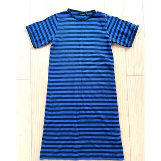 マリメッコ(marimekko)のマリメッコ  タサライタ ワンピース ボーダー 子供服 キッズ 128 134(ワンピース)