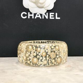 CHANEL - 正規品 シャネル バングル ココマーク パール 真珠 クリア マグネット ワイド