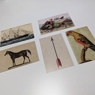 アッシュペーフランス(H.P.FRANCE)のJOHN DERIANジョンデリアン ポストカード新品5枚セット(使用済み切手/官製はがき)