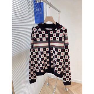 ディオール(Dior)のDior アムール ボンバー ジャケット ハート CD ロゴ カシミヤ 女(カーディガン)