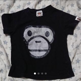アベイシングエイプ(A BATHING APE)のA BATHING APE  Tシャツ  黒   90(Tシャツ/カットソー)