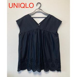 UNIQLO - ユニクロ  コットンエンブロイダリーブラウス M