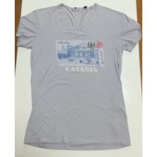 ドルチェアンドガッバーナ(DOLCE&GABBANA)のDOLCE&GABBANA ドルガバ メンズ Tシャツ ライトパープル Vネック(Tシャツ/カットソー(半袖/袖なし))