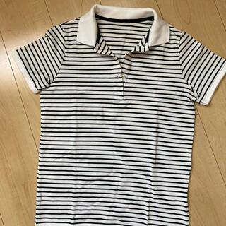 ユニクロ(UNIQLO)のUNIQLO レディースボーダーポロシャツ S(ポロシャツ)