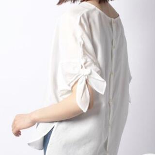 テチチ(Techichi)のテチチ☆抗菌防臭リボンシャツ(シャツ/ブラウス(半袖/袖なし))