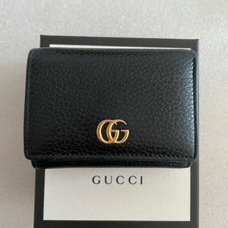 Gucci - GUCCI グッチ 三つ折り財布 ブラック