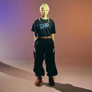 シー(SEA)のFLAGSTUFF × WIND AND SEA コラボtee BLACK M(Tシャツ/カットソー(半袖/袖なし))