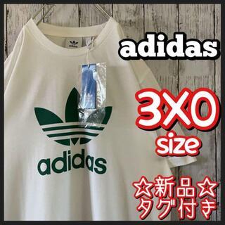 adidas - 新品 タグ付き adidas アディダス Tシャツ デカロゴ ビックシルエット
