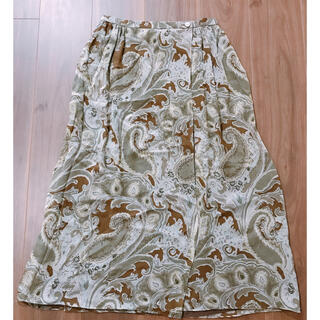 アクアスキュータム(AQUA SCUTUM)のアクアスキュータム シルクシフォンスカート 美品(ロングスカート)