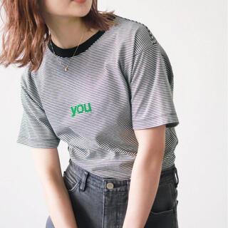 イエナスローブ(IENA SLOBE)のslobe iena ボーダーtee(Tシャツ(半袖/袖なし))