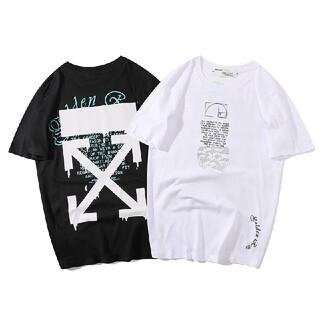 男女兼用☆2枚8000円☆OFF-WHITE14#☆Tシャツ新品☆オフホワイト☆(Tシャツ/カットソー(半袖/袖なし))