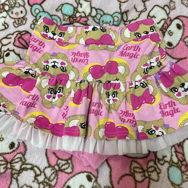 EARTHMAGIC(アースマジック)のハートフレームスカート キッズ/ベビー/マタニティのキッズ服女の子用(90cm~)(スカート)の商品写真