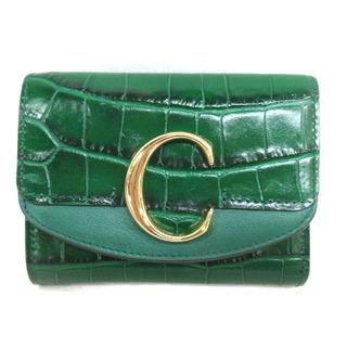 クロエ(Chloe)のクロエ C スモール トリフォールド ウォレット クロコ型押し 三つ折り財布(財布)