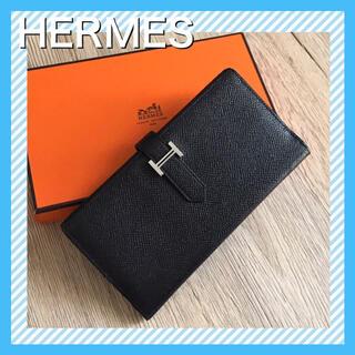 Hermes - 【極美品】HERMES 財布/ベアンスフレ 長財布 マチあり